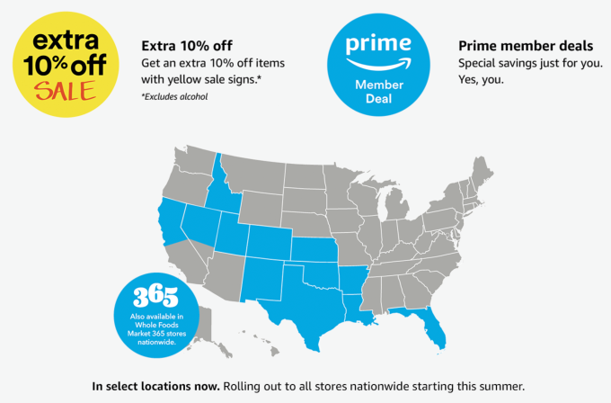 amazon begins nationwide expansion of whole foods discounts for